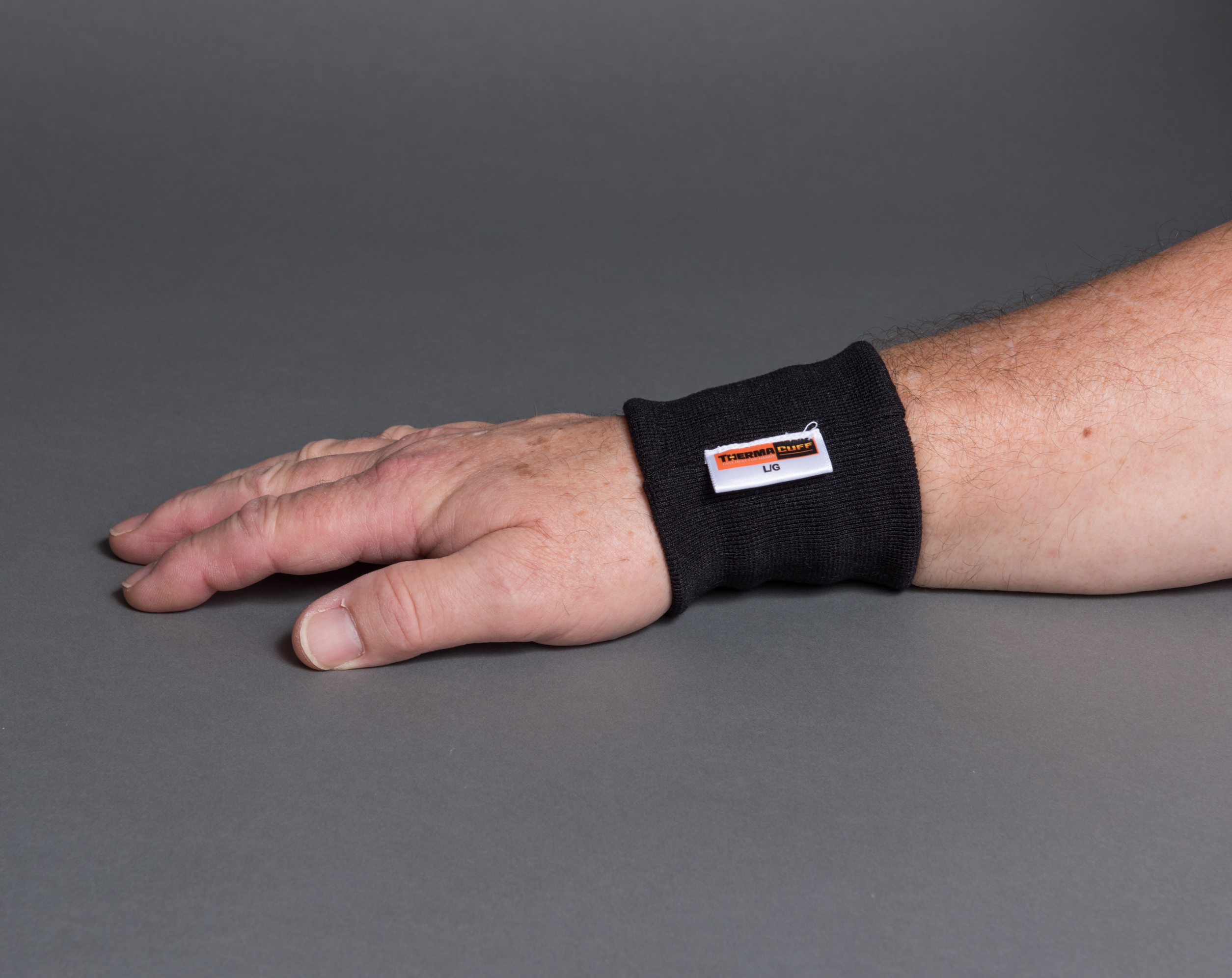 about - thermacuff on wrist palm down